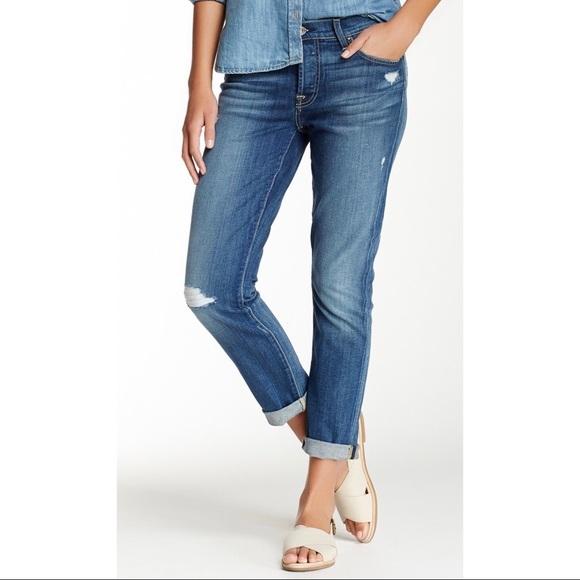 c7a0c2a5d55 7 For All Mankind Denim - 7FAM Distressed Josefina Skinny Boyfriend Jeans